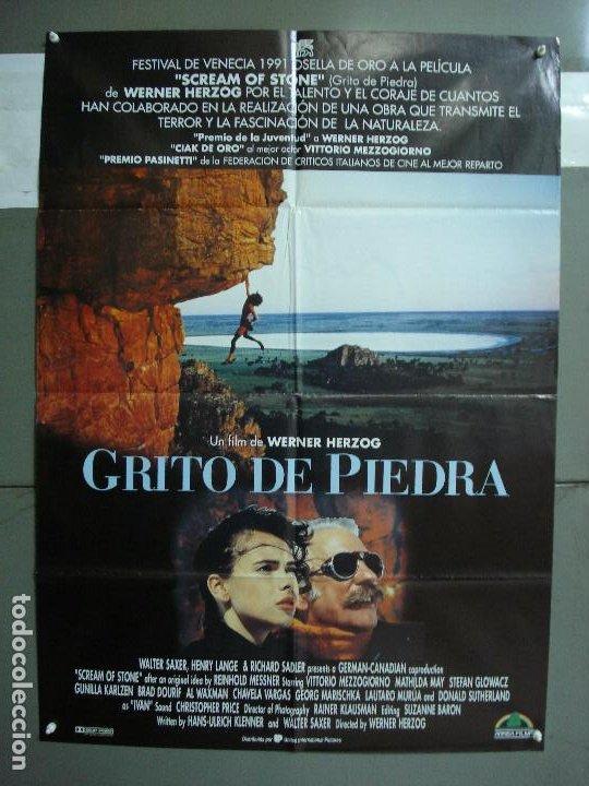 CDO 1919 GRITO DE PIEDRA WERNER HERZOG ALPINISMO MONTAÑA POSTER ORIGINAL 70X100 ESTRENO (Cine - Posters y Carteles - Deportes)