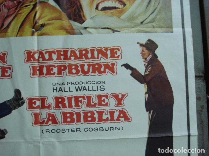 Cine: CDO 1922 EL RIFLE Y LA BIBLIA JOHN WAYNE KATHARINE HEPBURN POSTER ORIGINAL 70X100 ESTRENO - Foto 8 - 203040120