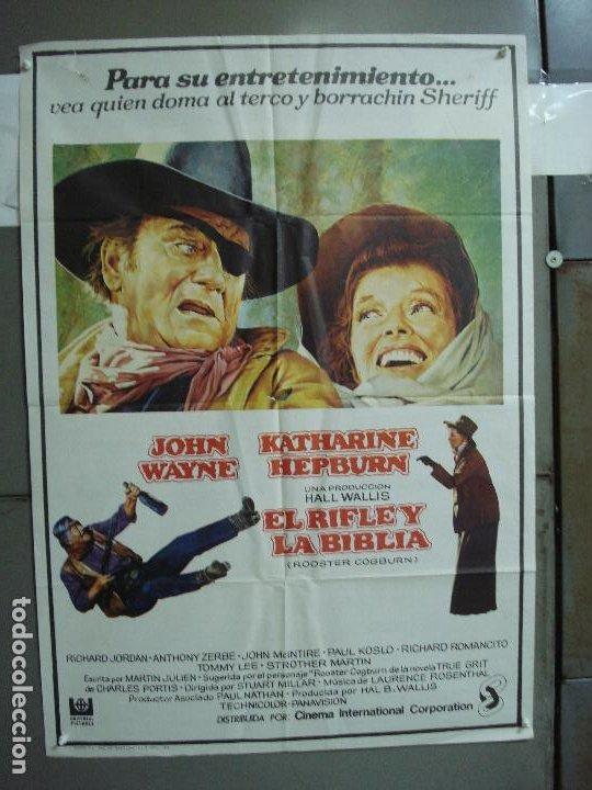 CDO 1922 EL RIFLE Y LA BIBLIA JOHN WAYNE KATHARINE HEPBURN POSTER ORIGINAL 70X100 ESTRENO (Cine - Posters y Carteles - Westerns)