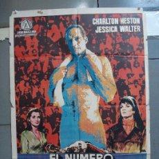 Cine: CDO 1934 EL NUMERO UNO CHARLTON HESTON FUTBOL AMERICANO JANO POSTER ORIGINAL 70X100 ESTRENO. Lote 203047400