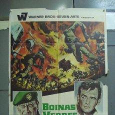 Cine: CDO 1945 BOINAS VERDES JOHN WAYNE MCP POSTER ORIGINAL 70X100 ESTRENO. Lote 203049312