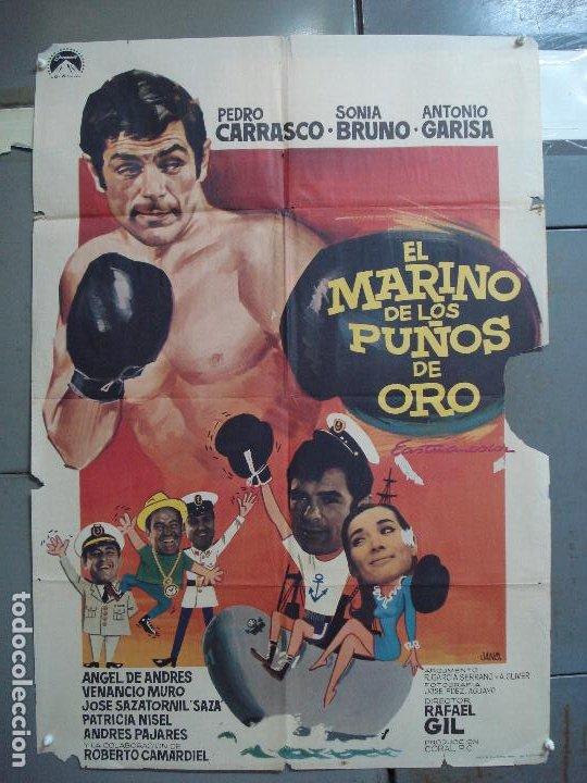 CDO 1962 EL MARINO DE LOS PUÑOS DE ORO PEDRO CARRASCO SONIA BRUNO BOXEO POSTER ORIG 70X100 ESTRENO (Cine - Posters y Carteles - Deportes)