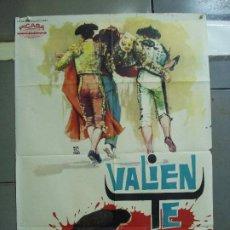 Cine: CDO 1971 VALIENTE LUIS MARQUINA JAIME OSTOS TOROS MONTALBAN POSTER ORIGINAL 70X100 ESTRENO. Lote 203057276