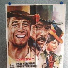 Cine: DOS HOMBRES Y UN DESTINO. ROBERT REDFORD, PAUL NEWMAN, KATHARINE ROSS. 1977. POSTER ORIGINAL ESTRENO. Lote 203065610