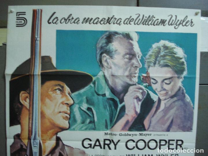 Cine: CDO 1988 LA GRAN PRUEBA GARY COOPER WILLIAM WYLER POSTER ORIGINAL ESPAÑOL 70X100 R-82 - Foto 2 - 203136252