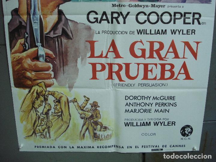 Cine: CDO 1988 LA GRAN PRUEBA GARY COOPER WILLIAM WYLER POSTER ORIGINAL ESPAÑOL 70X100 R-82 - Foto 3 - 203136252