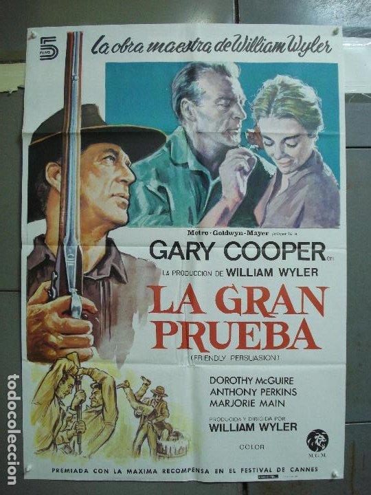 CDO 1988 LA GRAN PRUEBA GARY COOPER WILLIAM WYLER POSTER ORIGINAL ESPAÑOL 70X100 R-82 (Cine - Posters y Carteles - Westerns)
