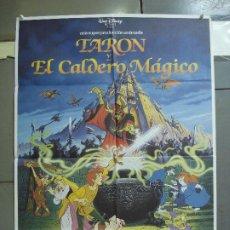 Cine: CDO 2044 TARON Y EL CALDERO MAGICO WALT DISNEY POSTER ORIGINAL ESTRENO 70X100. Lote 203168965