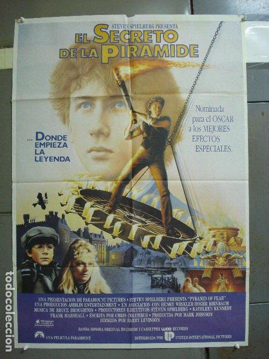 CDO 2047 EL SECRETO DE LA PIRAMIDE SHERLOCK HOLMES SPIELBERG LEVINSON POSTER ORIGINAL 70X100 ESTRENO (Cine - Posters y Carteles - Suspense)