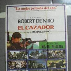 Cine: CDO 2102 EL CAZADOR ROBERT DE NIRO MICHAEL CIMINO POSTER ORIGINAL 70X100 ESTRENO. Lote 203250765