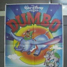 Cine: CDO 2101 DUMBO WALT DISNEY POSTER ORIGINAL 70X100 ESPAÑOL R-85. Lote 203250796
