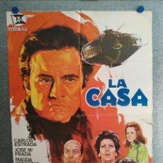 Cine: LA CASA. CARLOS ESTRADA, JOSÉ MARÍA PRADA, MAGDA KONOPKA. AÑO 1974. POSTER ORIGINAL. Lote 203251900