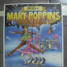 Cine: CDO 2108 MARY POPPINS JULIE ANDREWS WALT DISNEY POSTER ORIGINAL 70X100 ESPAÑOL R-80S. Lote 203252585