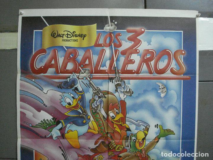 Cine: CDO 2111 LOS TRES CABALLEROS WALT DISNEY POSTER ORIGINAL 70X100 ESPAÑOL R-83 - Foto 2 - 203257128