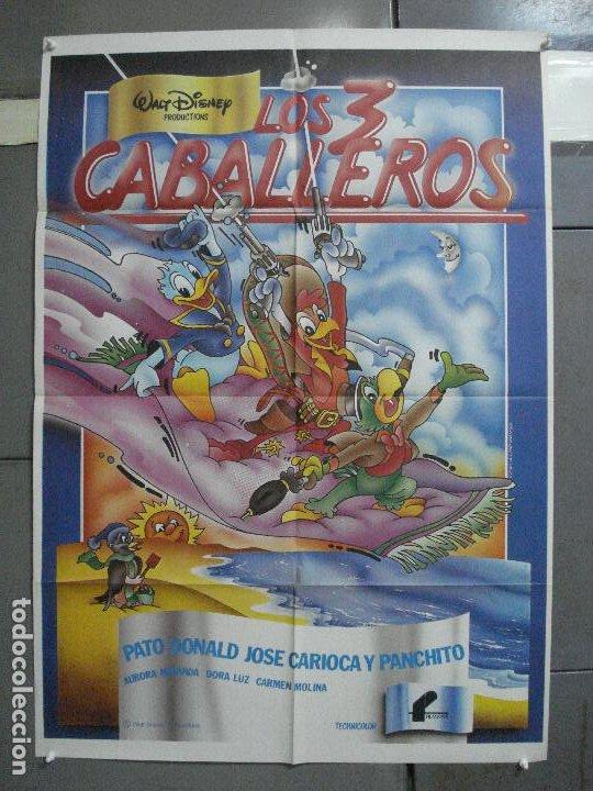 CDO 2111 LOS TRES CABALLEROS WALT DISNEY POSTER ORIGINAL 70X100 ESPAÑOL R-83 (Cine - Posters y Carteles - Infantil)