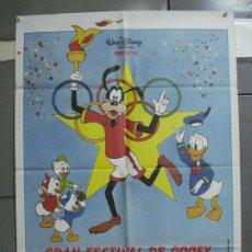 Cine: CDO 2118 GRAN FESTIVAL DE GOOFY WALT DISNEY OLIMPIADAS POSTER ORIGINAL 70X100 ESTRENO. Lote 203259677