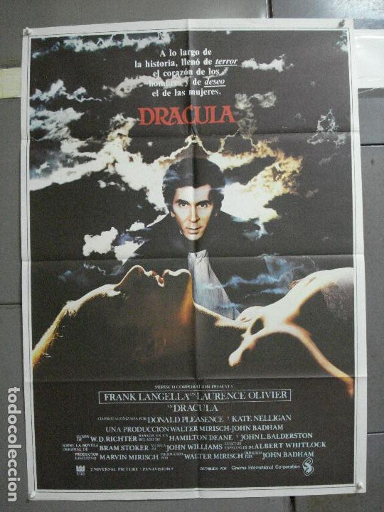 CDO 2126 DRACULA FRANK LANGELLA LAURENCE OLIVIER JOHN BADHAM POSTER ORIGINAL 70X100 ESTRENO (Cine - Posters y Carteles - Terror)