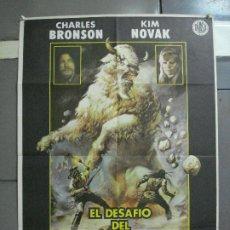 Cine: CDO 2132 EL DESAFIO DEL BUFALO BLANCO CHARLES BRONSON KIM NOVAK POSTER ORIGINAL 70X100 ESTRENO. Lote 203329136