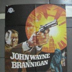 Cine: CDO 2147 BRANNIGAN JOHN WAYNE POSTER ORIGINAL 70X100 ESTRENO. Lote 203339526