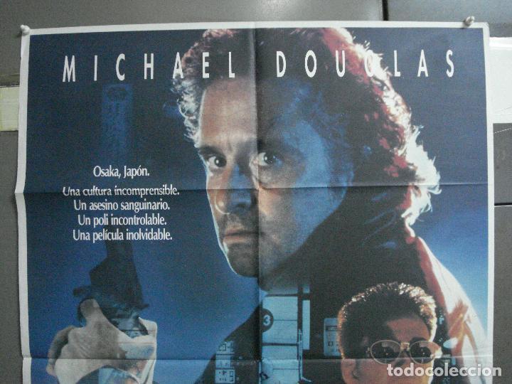Cine: CDO 2149 BLACK RAIN MICHAEL DOUGLAS ANDY GARCIA RIDLEY SCOTT POSTER ORIGINAL 70X100 ESTRENO - Foto 2 - 203340206