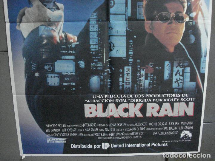 Cine: CDO 2149 BLACK RAIN MICHAEL DOUGLAS ANDY GARCIA RIDLEY SCOTT POSTER ORIGINAL 70X100 ESTRENO - Foto 3 - 203340206
