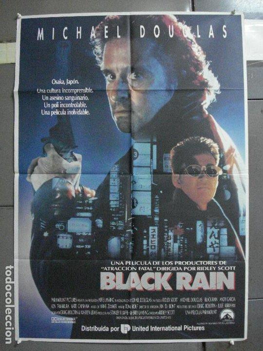 CDO 2149 BLACK RAIN MICHAEL DOUGLAS ANDY GARCIA RIDLEY SCOTT POSTER ORIGINAL 70X100 ESTRENO (Cine - Posters y Carteles - Acción)