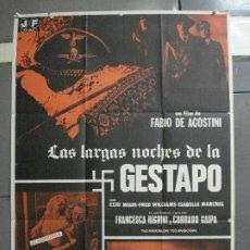 Cine: CDO 2167 LAS LARGAS NOCHES DE LA GESTAPO SEXPLOITATION POSTER ORIGINAL ESTRENO 70X100. Lote 203356068