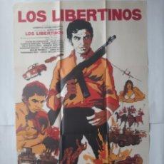 Cine: ANTIGUO CARTEL CINE LOS LIBERTINOS + 12 FOTOCROMOS 1971 MAD CC125. Lote 203549728