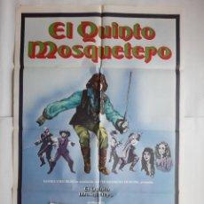 Cine: ANTIGUO CARTEL CINE EL QUINTO MOSQUETERO URSULA ANDRESS + 12 FOTOCROMOS CC132. Lote 203550731