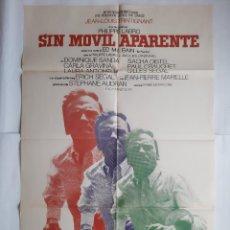 Cine: ANTIGUO CARTEL CINE SIN MOVIL APARENTE + 12 FOTOCROMOS 1972 CC133. Lote 203550831