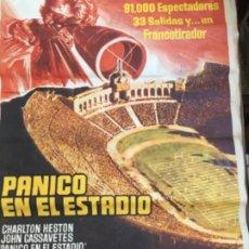 Cine: PÁNICO EN EL ESTADIO, DE 1977. Lote 203592046