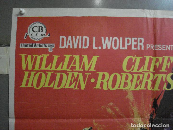 Cine: CDO 2184 LA BRIGADA DEL DIABLO WILLIAM HOLDEN MAC POSTER ORIGINAL 70X100 ESTRENO - Foto 2 - 203785703