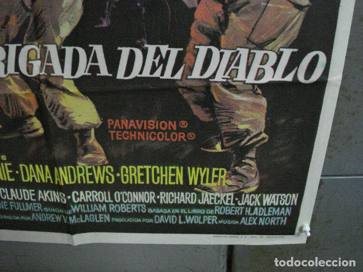Cine: CDO 2184 LA BRIGADA DEL DIABLO WILLIAM HOLDEN MAC POSTER ORIGINAL 70X100 ESTRENO - Foto 9 - 203785703