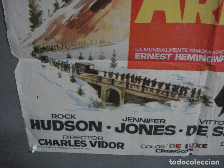 Cine: CDO 2186 ADIOS A LAS ARMAS ROCK HUDSON JENNIFER JONES JANO POSTER ORIGINAL 70X100 ESTRENO - Foto 5 - 203786062