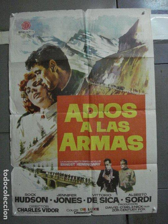 CDO 2186 ADIOS A LAS ARMAS ROCK HUDSON JENNIFER JONES JANO POSTER ORIGINAL 70X100 ESTRENO (Cine - Posters y Carteles - Bélicas)