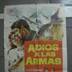 Cine: CDO 2186 ADIOS A LAS ARMAS ROCK HUDSON JENNIFER JONES JANO POSTER ORIGINAL 70X100 ESTRENO. Lote 203786062