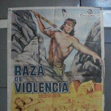 Cine: CDO 2190 RAZA DE VIOLENCIA ROCK HUDSON BARBARA RUSH POSTER ORIGINAL 70X100 ESTRENO. Lote 203787497
