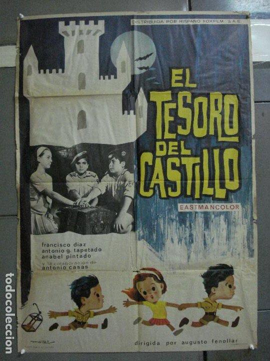 CDO 2205 EL TESORO DEL CASTILLO ANTONIO CASAS POSTER ORIGINAL 70X100 ESTRENO (Cine - Posters y Carteles - Infantil)