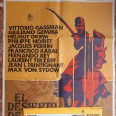 Cine: CARTEL CINE + 12 FOTOCROMOS EL DESIERTO DE LOS TARTAROS 1977 VITTORIO GASSMAN FRANCISCO RABAL FERNAN. Lote 203797678