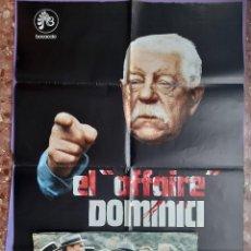 Cine: CARTEL + 6 FOTOCROMOS EL AFFAIRE DOMINICI 1973 JEAN GABIN GERARD DEPARDIEU GRAFICAS SUMMA OVIEDO. Lote 203800135