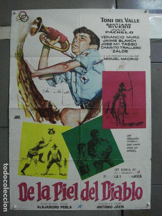 CDO 2215 DE LA PIEL DEL DIABLO TONY DEL VALLE VENANCIO MURO POSTER ORIGINAL 70X100 ESTRENO (Cine - Posters y Carteles - Infantil)