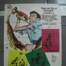 Cine: CDO 2215 DE LA PIEL DEL DIABLO TONY DEL VALLE VENANCIO MURO POSTER ORIGINAL 70X100 ESTRENO. Lote 203802921