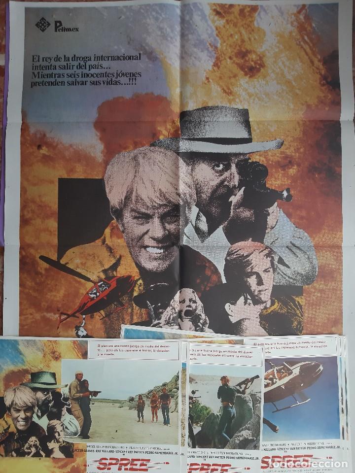 Cine: CARTEL + 8 FOTOCROMOS SPREE 1981 PETER GRAVES RAY MILLAND DIRECTOR LARRY SPIEGEL - Foto 2 - 203803078