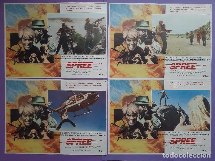 Cine: CARTEL + 8 FOTOCROMOS SPREE 1981 PETER GRAVES RAY MILLAND DIRECTOR LARRY SPIEGEL - Foto 3 - 203803078