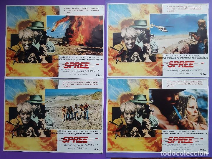 Cine: CARTEL + 8 FOTOCROMOS SPREE 1981 PETER GRAVES RAY MILLAND DIRECTOR LARRY SPIEGEL - Foto 4 - 203803078
