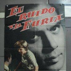 Cine: CDO 2218 EL RUIDO Y LA FURIA YUL BRYNNER JOANNE WOODWARD POSTER ORIGINAL ESTRENO 70X100. Lote 203805665