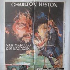 Cine: ANTIGUO CARTEL CINE DUELO EN LAS PROFUNDIDADES + 12 FOTOCROMOS 1982 CC135. Lote 203816576