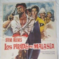 Cine: PÓSTER ORIGINAL LOS PIRATAS DE MALASIA 1975. Lote 203817176