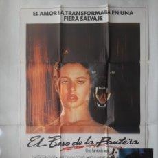 Cine: ANTIGUO CARTEL CINE EL BESO DE LA PANTERA + 12 FOTOCROMOS 1982 CC136. Lote 203817546