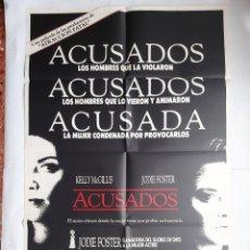 Cine: ANTIGUO CARTEL CINE ACUSADAS + 12 FOTOCROMOS 1988 CC138. Lote 203818762